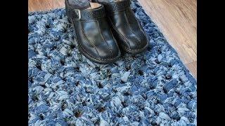 getlinkyoutube.com-Красивые коврики для дома из джинсов