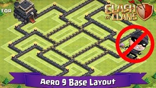 getlinkyoutube.com-Clash Of Clans: TH9 | BEST Farming Base Layout - Aero 9