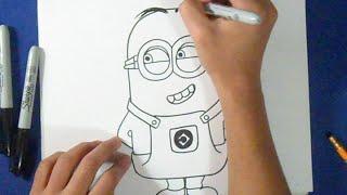 """getlinkyoutube.com-comment dessiner """"minion""""   Wie zeichnet ich einfach unverbesserlich"""