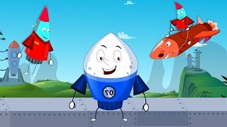 getlinkyoutube.com-Humpty Dumpty Sat On The Wall | Car Nursery Rhymes For Children By Kids Channel