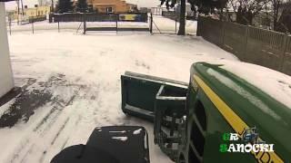 getlinkyoutube.com-Zapowiedź zimy 2014 i uszkodzenie tuza - John Deere 6930P & John Deere 5720 - GR Sanocki
