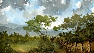 getlinkyoutube.com-Watercolour Painting Landscape Demonstration