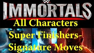 getlinkyoutube.com-WWE Immortals - All Characters Super Finishers | Signature Moves