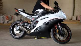 getlinkyoutube.com-Yamaha R6 sound Akrapovic exhaust