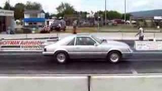 getlinkyoutube.com-Pecks Turbo Mustang  goes 9.76