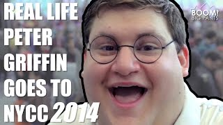 getlinkyoutube.com-Real Life Peter Griffin Goes To NYCC 2014 | BOOM! Big Pants