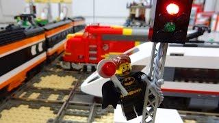 getlinkyoutube.com-Lego train rail crossing fully automated by Arduino