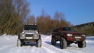 getlinkyoutube.com-Defender and Land Cruiser 80