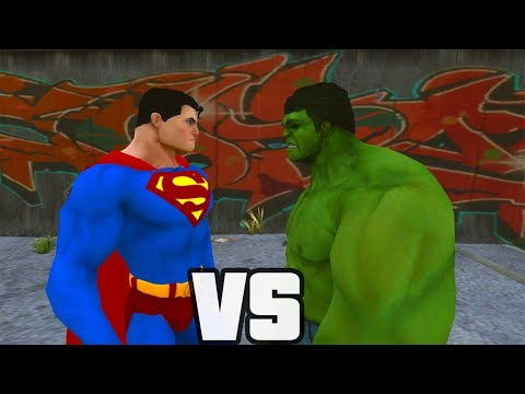 Superman Vs Hulk - O Combate