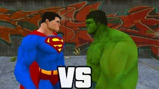 getlinkyoutube.com-Superman Vs Hulk - O Combate
