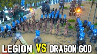 getlinkyoutube.com-Ark Survival Evolved - DRAGON GOD vs LEGION (FAIL) - New Creatures / Weapons (Gameplay)