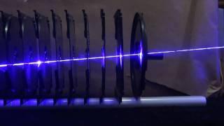 getlinkyoutube.com-2W 445nm Blue Laser versus 11 CD cases