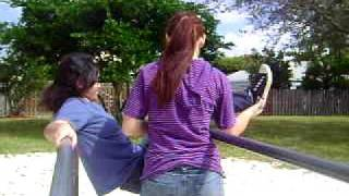 getlinkyoutube.com-Me pushing Jennifer off of the playground bars