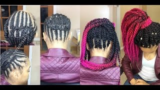 getlinkyoutube.com-#95. BEST BRAIDING PATTERN 4 (crochet) PONYTAIL