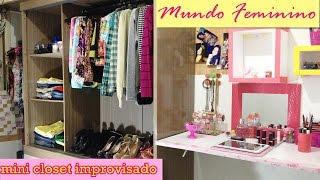getlinkyoutube.com-Mini closet improvisado/Transformando Guarda Roupa-Por Maryah Froez
