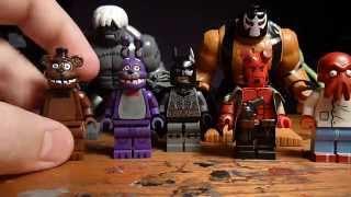 getlinkyoutube.com-Lego Five Nights At Freddy's Bonnie and Freddy, Hellboy, and DC Big Figs!