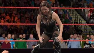 WWE 2K17 Raw Mickie James vs Stephanie