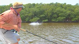 getlinkyoutube.com-Monster Fish on Subsurface Plugs in Florida Everglades National Park