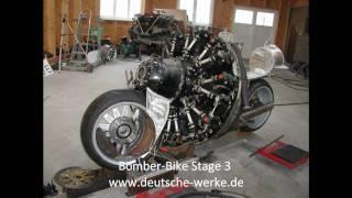 getlinkyoutube.com-Bomber-Bike Project Stage 3 (Motorrad mit Sternmotor)