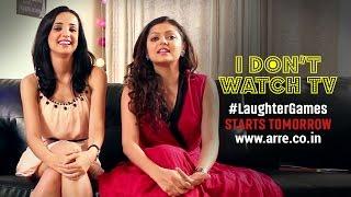 getlinkyoutube.com-I Don't Watch TV   Drashti and Sanaya Don't Watch TV   #LaughterGames