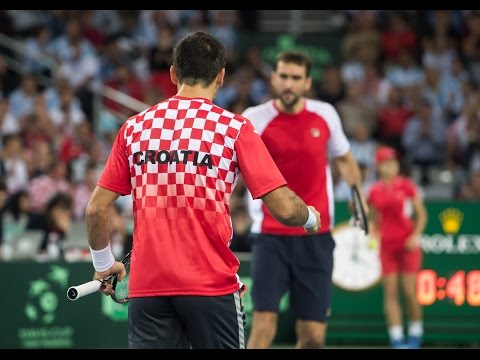 Highlights: Cilic/Dodig (CRO) v Del Potro/Mayer (ARG)