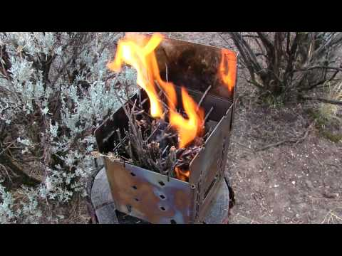 Firebox Camp Coffee In The Rain & Light Wind Burning Wet Wood / Partial Pot Skirt