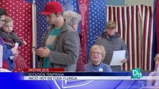 Inició en Florida la votación anticipada