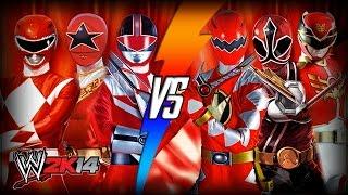 getlinkyoutube.com-WWE 2K14 S3E9 - MMPR, Zeo, & Time Force VS Dino Thunder, Samurai, & Megaforce (Tag Team Match)