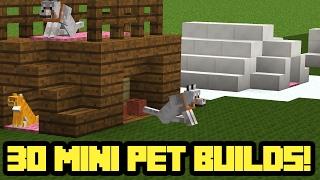 getlinkyoutube.com-30 MINI Minecraft Pet House Builds!