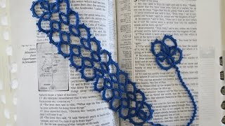 getlinkyoutube.com-Needle Tatting Bookmark part 1