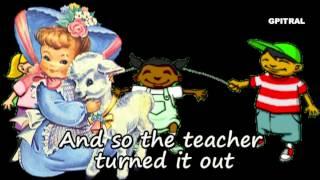 getlinkyoutube.com-Mary had a Little Lamb Read & Sing Lyrics Karaoke