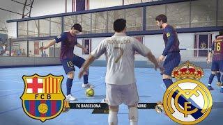 getlinkyoutube.com-Fifa Street - El Clasico Barcelona vs Real Madrid en Un partido de Futbol Sala