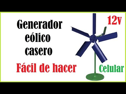 how to Mini generador eólico casero paso a paso manual tutorial diy