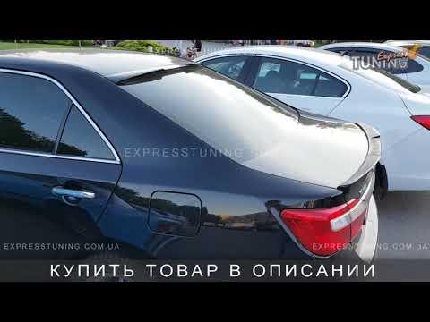 Спойлер на стекло Тойота Камри 50 спорт. Спойлер на заднее стекло Toyota Camry V50. AOM Tuning.
