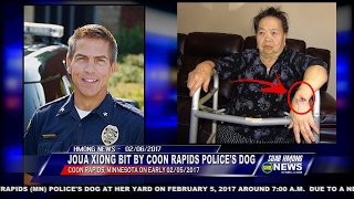 getlinkyoutube.com-SUAB HMONG NEWS: Joua Xiong, 83-year-old, bit by Coon Rapids Police's dog on 02/05/2017
