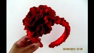 getlinkyoutube.com-Flores hermosas diademas trenzas nudos dobles en cintas para el cabello