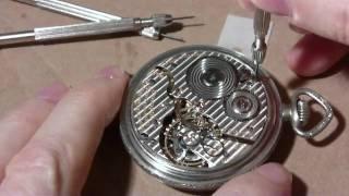 getlinkyoutube.com-How I take apart a pocket watch, Hamilton 992, Part 1 of 2