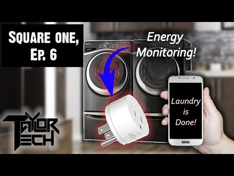 Square One, Ep. 6: Laundry Alerts Using Dome Energy Monitoring Plug and WebCoRe!