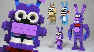 How to Build LEGO Bonnie (Toy, Withered & Springtrap) | LEGO FNAF