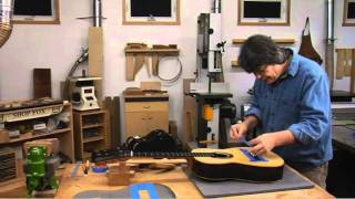 getlinkyoutube.com-Guitar Making - Excerpt from Installing the Bridge