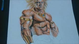 getlinkyoutube.com-Brolly Realistic drawing