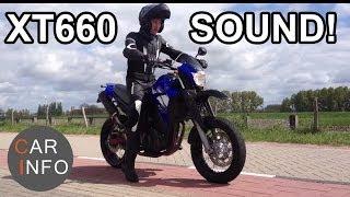 getlinkyoutube.com-Yamaha XT 660 X Leovince exhaust sound: Testdrive 2014