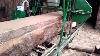 getlinkyoutube.com-Cutting big logs with the homemade sawmill.
