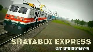 getlinkyoutube.com-Shtabdi Express at 200 kmph Indian train simulator