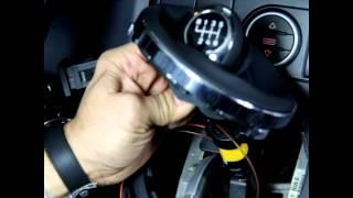 getlinkyoutube.com-Einbau ICT  beleuchteter Schaltknauf VW T5  wechseln How to change gear shift knob instruction