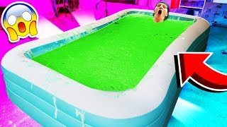 1,000 POUNDS OF SLIME IN MY POOL CHALLENGE!