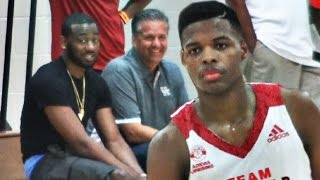 getlinkyoutube.com-Dennis Smith SHOWS Out In Front Of Coach Calipari And John Wall!