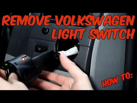 How to: Remove Volkswagen Light Switch
