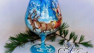 getlinkyoutube.com-Decoupage Tutorial - Christmas Tea Light Holder