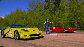 Ferrari 458 Italia vs Chevrolet Corvette ZR1, Nissan GT-R and Audi RS6